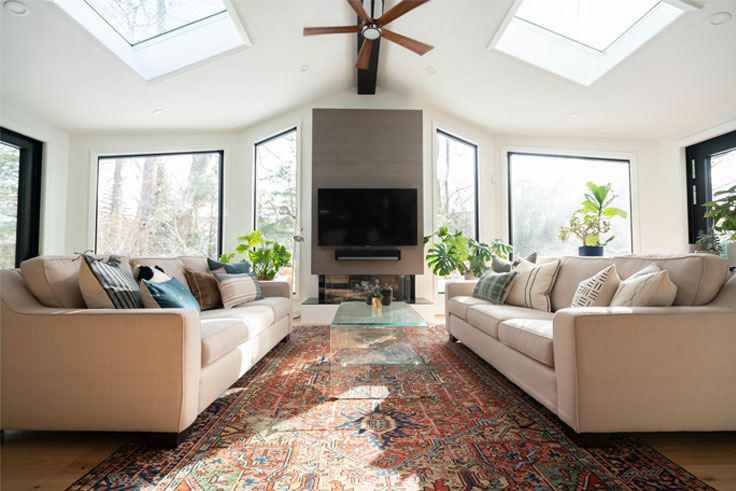 Classic carpets for the home can complement contemporary furnishings