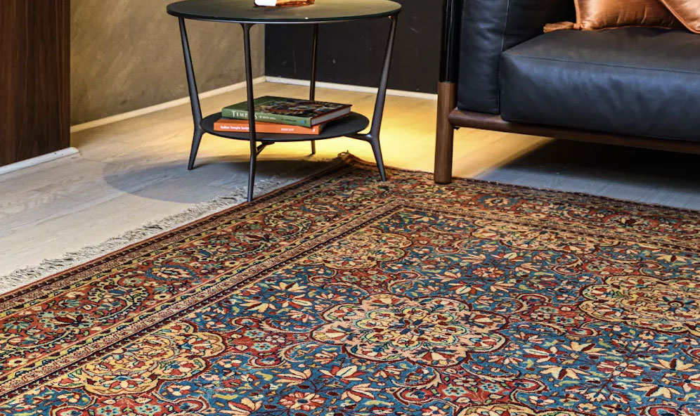 Consider the existing colours in your space when selecting a carpet for the living room